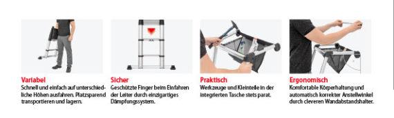 Angebot Hymer ZoomMaster ultrakompakte Leiter