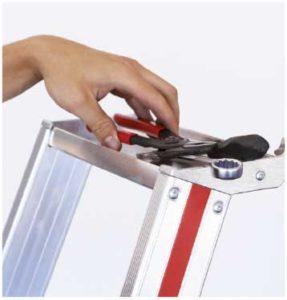 Nutzung von Ablageschalen oder Werkzeuggürtel