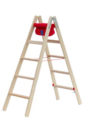 Hymer Holz-Stufenstehleiter